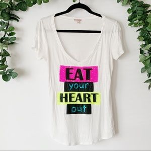 Juicy Couture ''Eat your Heart out'' graphic Tee